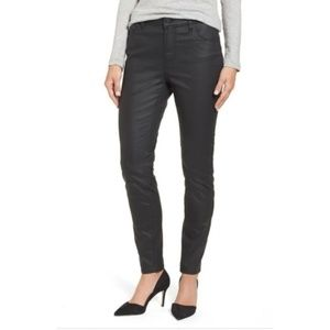 NWOT Size 29 Halogen Coated Black Skinny Jeans